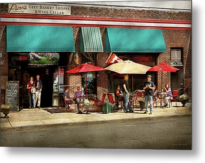 Metal Print featuring the photograph City - Edison Nj - Pino's Basket Shop by Mike Savad