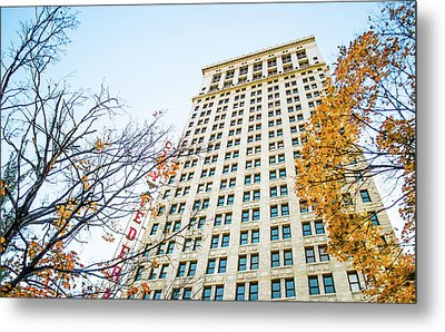 Metal Print featuring the photograph City Federal Building In Autumn - Birmingham, Alabama by Shelby Young