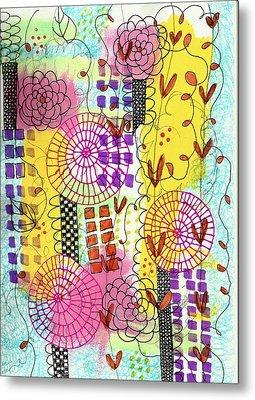 City Flower Garden Metal Print by Lisa Noneman