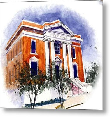City Hall  Hattiesburg  Mississippi Metal Print by Bobby Walters