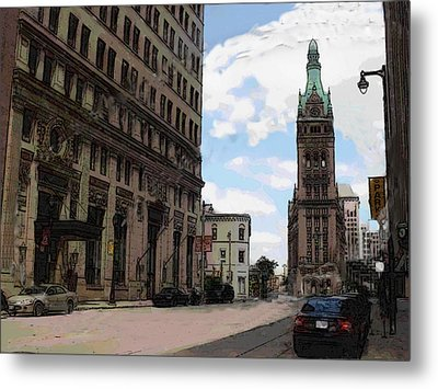 City Hall View From South Metal Print