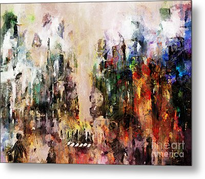 City Life Metal Print by Claire Bull