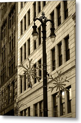 City Lights Metal Print by Sheryl Burns