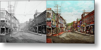 Metal Print featuring the photograph City - Ma Glouster - A Little Bit Of Everything 1910 - Side By Side by Mike Savad