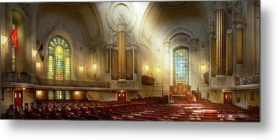 Metal Print featuring the photograph City - Naval Academy - The Chapel by Mike Savad
