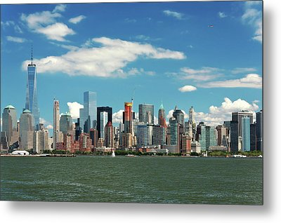 Metal Print featuring the photograph City - New York Ny - The New York Skyline by Mike Savad