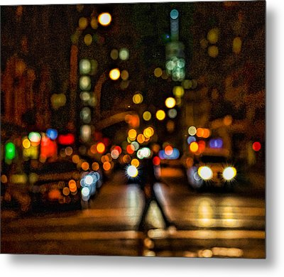 City Nights, City Lights Metal Print