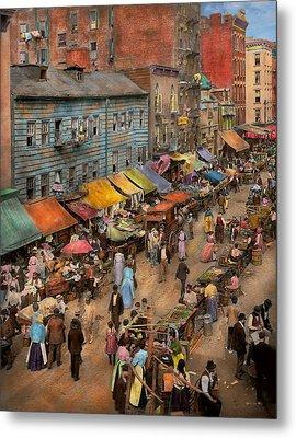 City - Ny - Jewish Market On The East Side 1890 Metal Print
