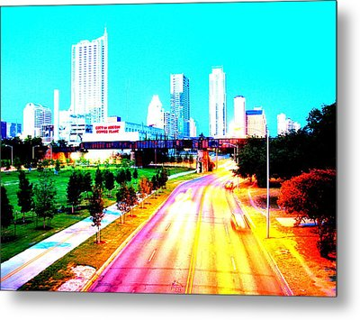 City Of Austin From The Walk Bridge Metal Print by James Granberry