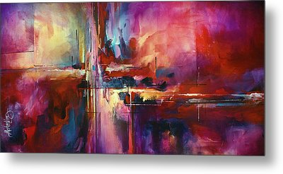 'city Of Fire' Metal Print by Michael Lang