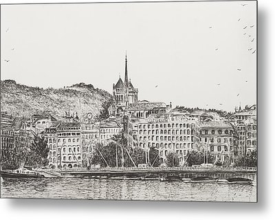City Of Geneva Metal Print by Vincent Alexander Booth
