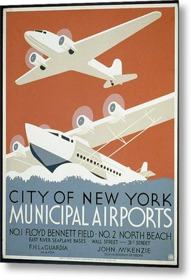 City Of New York Municipal Airports Metal Print by Christopher DeNoon