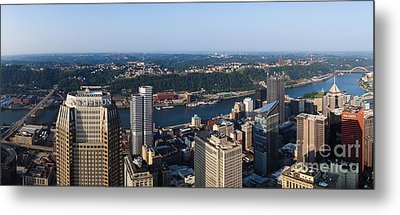 City Of Pittsburgh Panorama Metal Print by Amy Cicconi