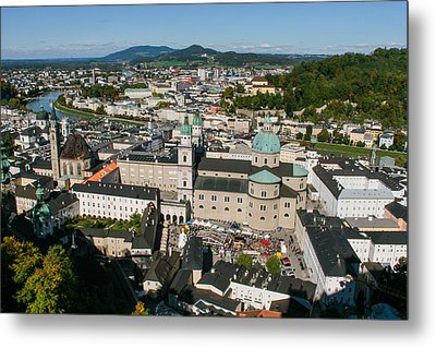 Metal Print featuring the photograph City Of Salzburg by Silvia Bruno