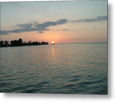 City Pier Holmes Beach Bradenton Florida Metal Print by Gary Wonning
