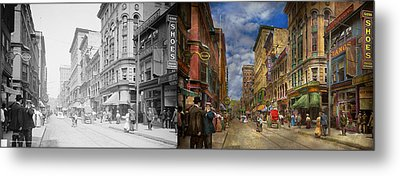 City - Providence Ri - Living In The City 1906 - Side By Side Metal Print by Mike Savad