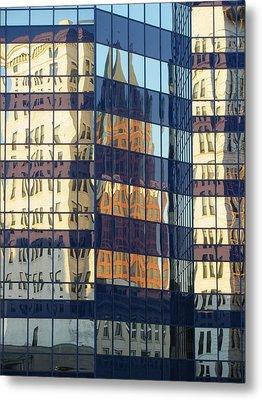 City Reflections 1 Metal Print by Anita Burgermeister