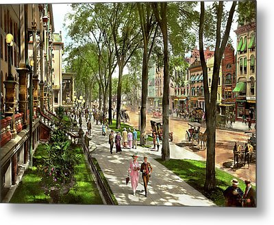 City - Saratoga Ny -  I Would Love To Be On Broadway 1915 Metal Print