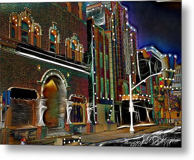 Metal Print featuring the photograph City Scene by EricaMaxine  Price