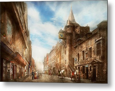 Metal Print featuring the photograph City - Scotland - Tolbooth Operator 1865 by Mike Savad