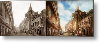 Metal Print featuring the photograph City - Scotland - Tolbooth Operator 1865 - Side By Side by Mike Savad