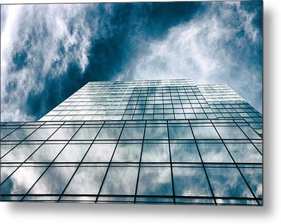 Metal Print featuring the photograph City Sky Light by Jessica Jenney