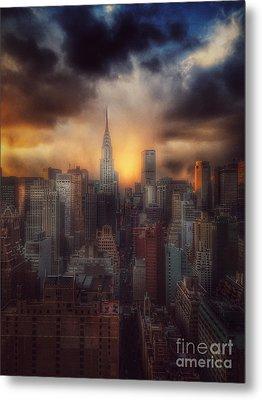 City Splendor - Sunset In New York Metal Print