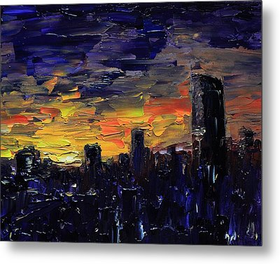 City Sunset Metal Print