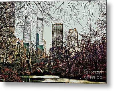 City View From Park Metal Print