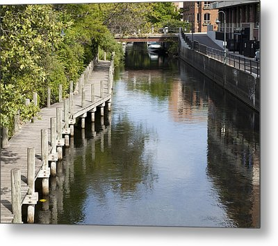 City Waterway Metal Print