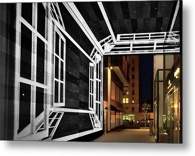 Metal Print featuring the photograph Citycenter Gateway - Washington by Stuart Litoff