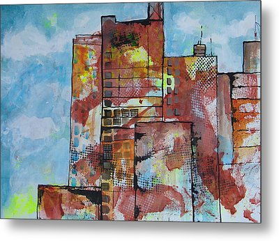 Cityscape 230 Metal Print by Karin Husty