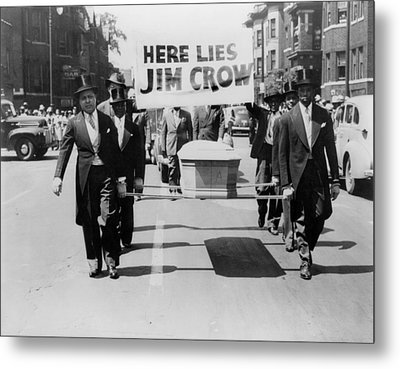 Civil Rights Demonstration In A Naacp Metal Print