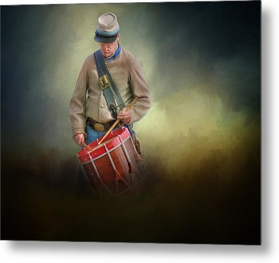 Civil War Drummer Boy Metal Print
