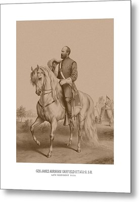 Civil War General James Garfield Metal Print by War Is Hell Store