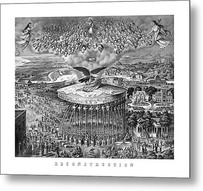 Civil War Reconstruction Metal Print by War Is Hell Store
