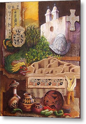 Civilizations Of Paquime Metal Print by Candy Mayer