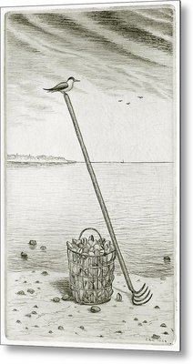 Clamming Metal Print by Charles Harden