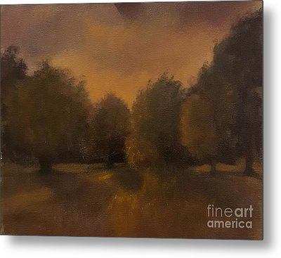 Clapham Common At Dusk Metal Print by Genevieve Brown