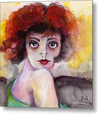 Clara Bow Vintage Movie Stars The It Girl Flappers Metal Print by Ginette Callaway