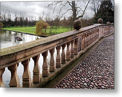 Metal Print featuring the photograph Clare College Bridge Cambridge by Gill Billington