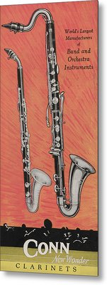 Clarinet And Giant Boehm Bass Metal Print
