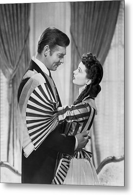 Clark Gable And Vivien Leigh Metal Print by Underwood Archives