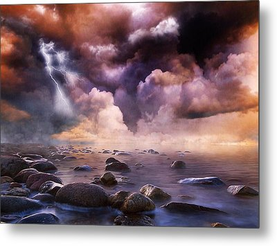 Clash Of The Clouds Metal Print by Gabriella Weninger - David
