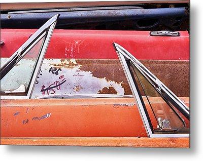 Classic Auto Doors And Windows  Metal Print by Jim Hughes