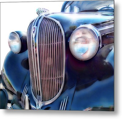 Classic Car Grill 1938 Plymouth Metal Print by Ann Powell