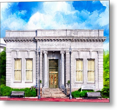 Classic Carnegie Library - Montezuma Georgia Metal Print by Mark Tisdale