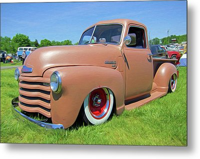 Classic Chevrolet Truck Metal Print by Marion Johnson