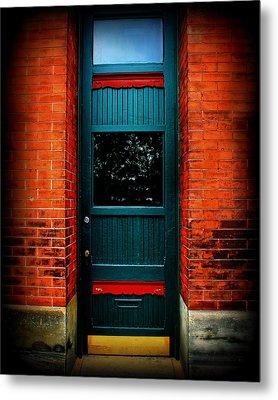 Classic Door Metal Print by Perry Webster