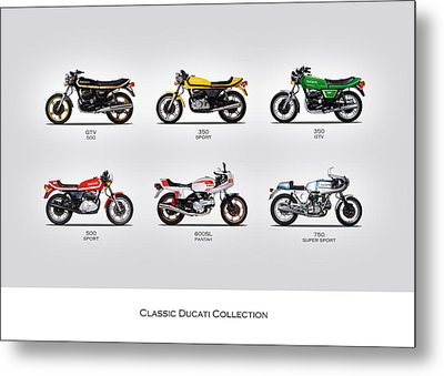 Classic Ducati Collection Metal Print by Mark Rogan